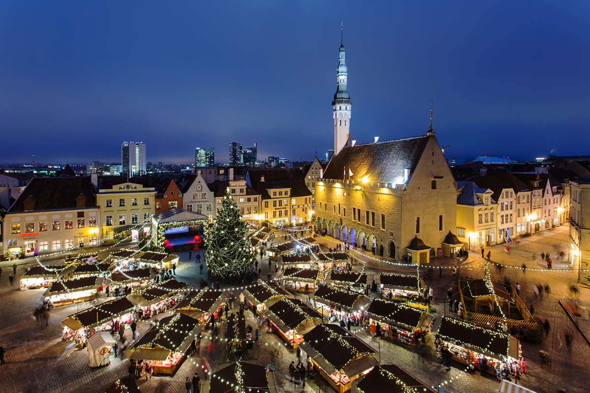 Christmas tree and Christmas market