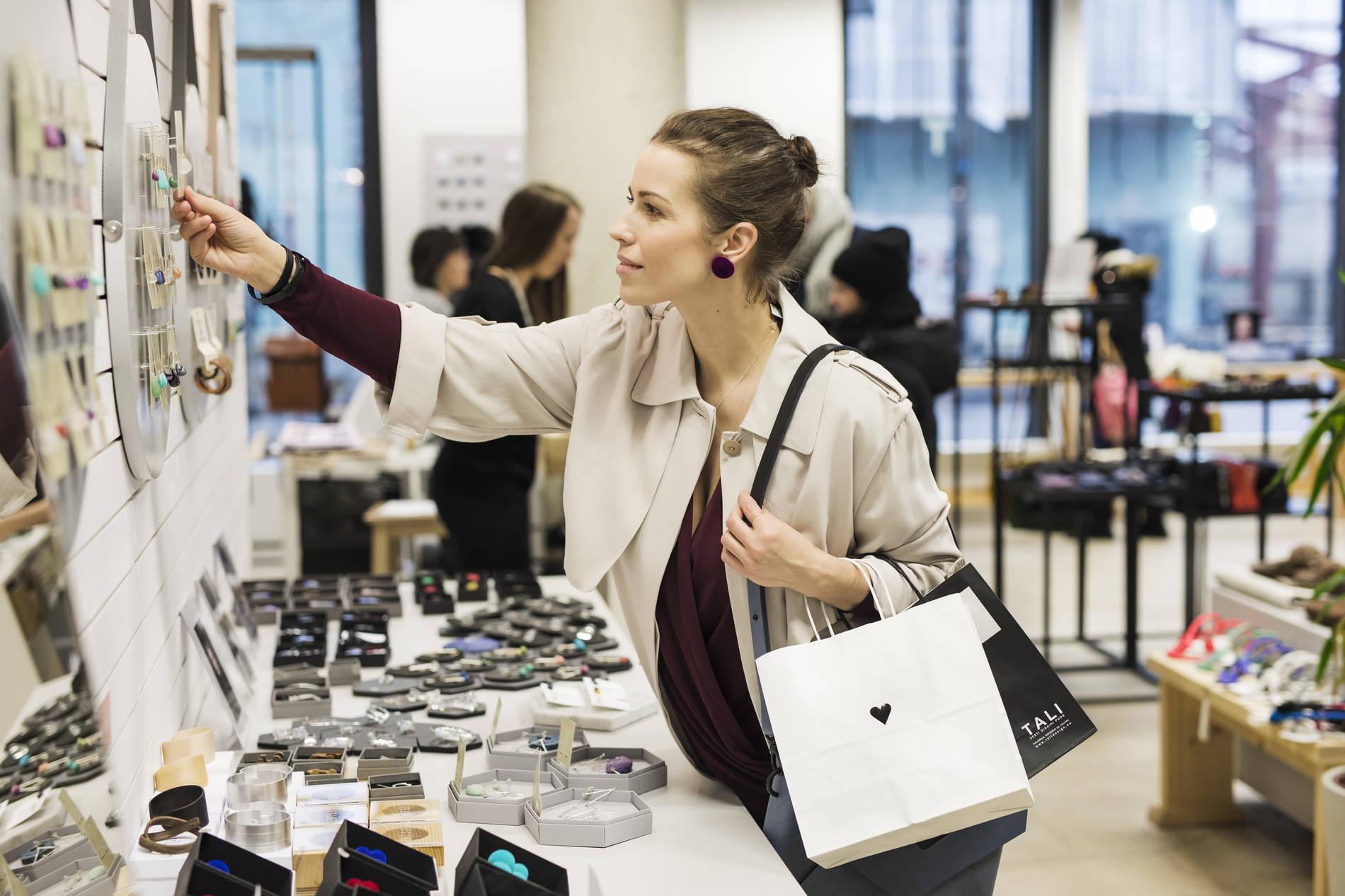 Woman shopping in a design shop Photo by: Krõõt Tarkmeel