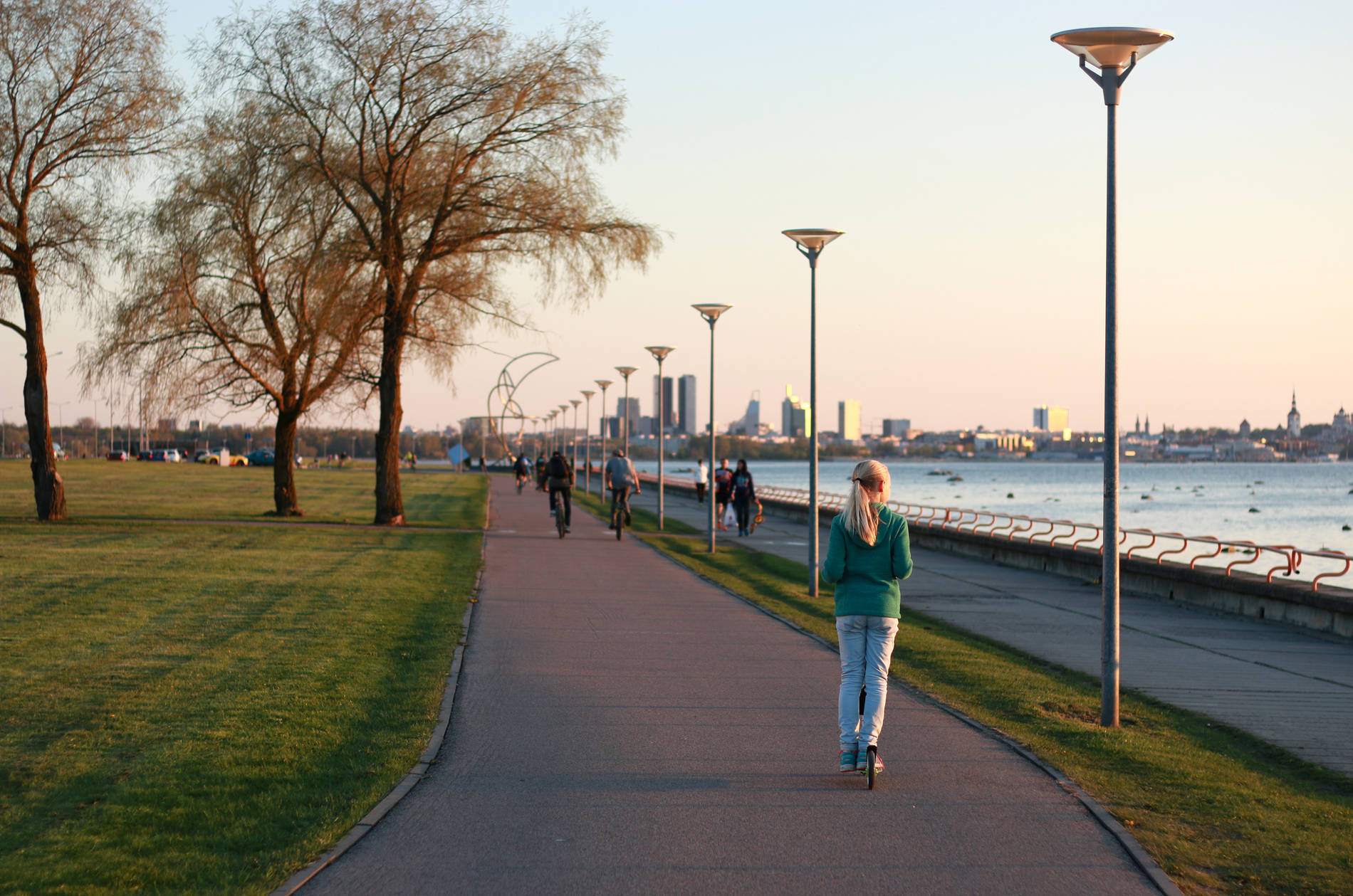 View of Pirita promenade. Photo by: Kadi-Liis Koppel