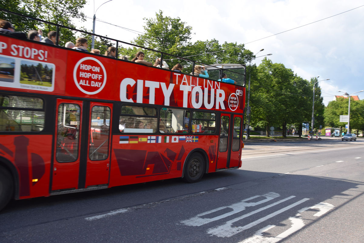Red City Tour bus in Tallinn, Estonia