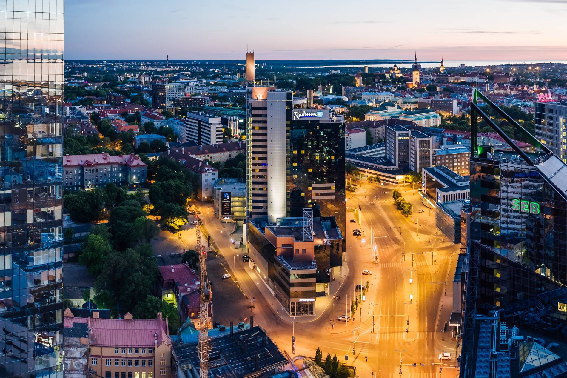 View of Radisson Blu Sky hotel in Tallinn city centre Photo by: Kaupo Kalda