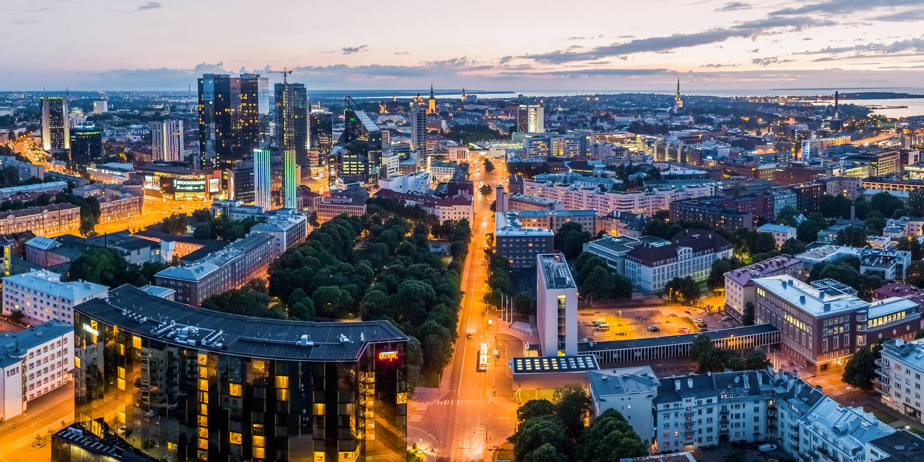 Aerial view of Tallinn City Centre Photo by: Kaupo Kalda