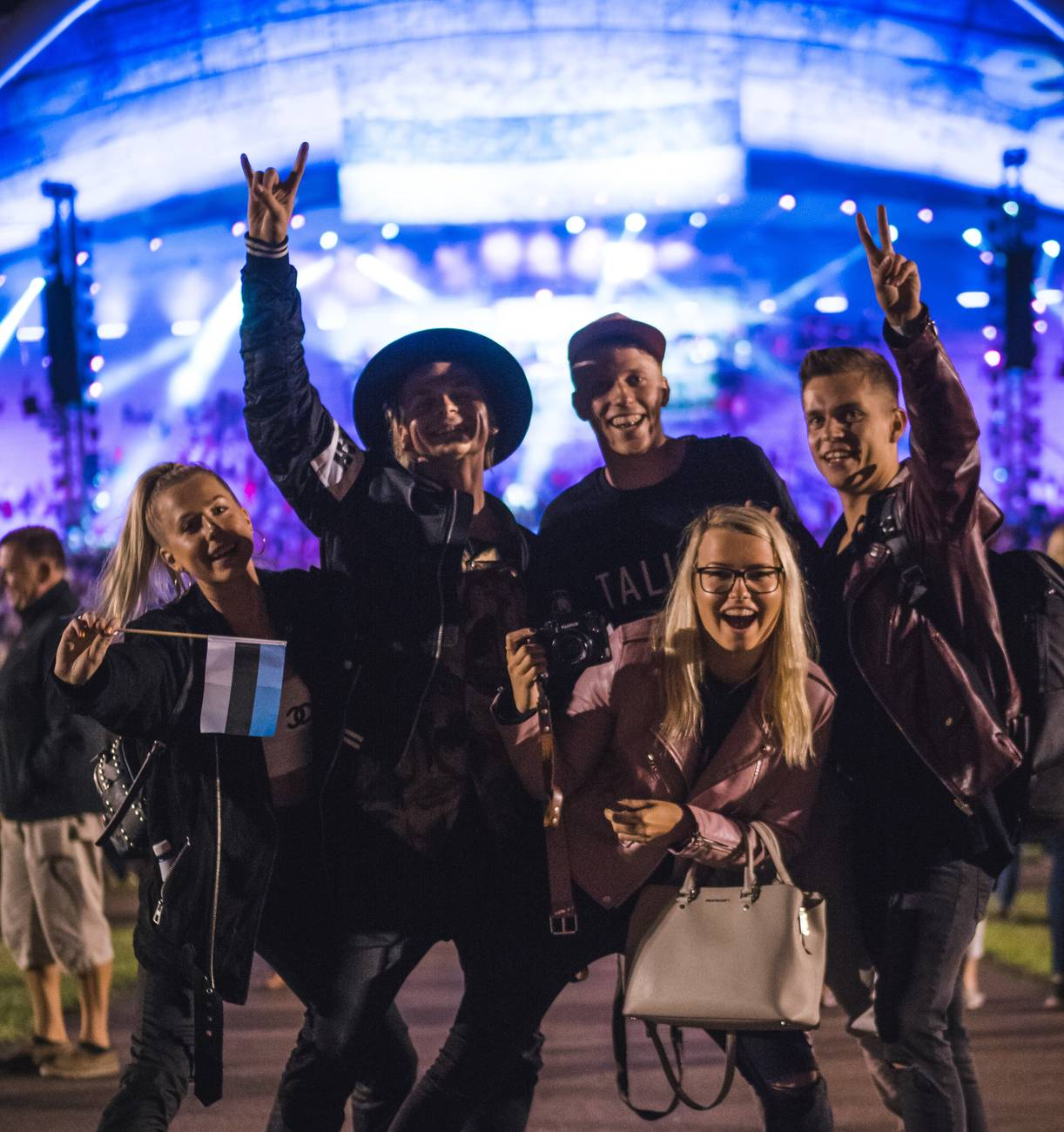Young people having fun at Tallinn Song Festival Grounds Photo by: Mark Harrison