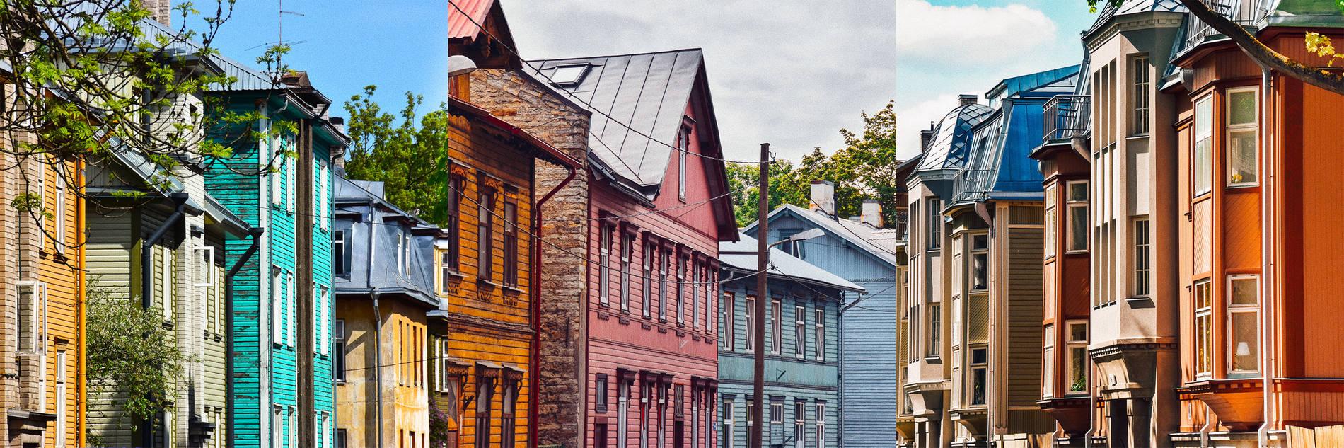 Kalamajan värikkäät puutalot Tallinnassa Kuva:
