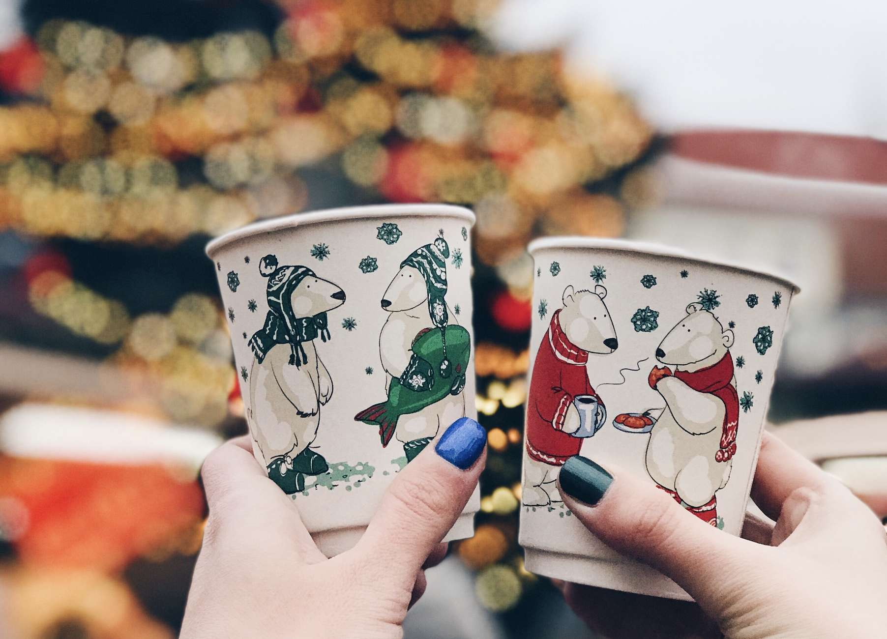 Mulled wine cups at Tallinn Christmas Market. Photo by: Kadi-Liis Koppel