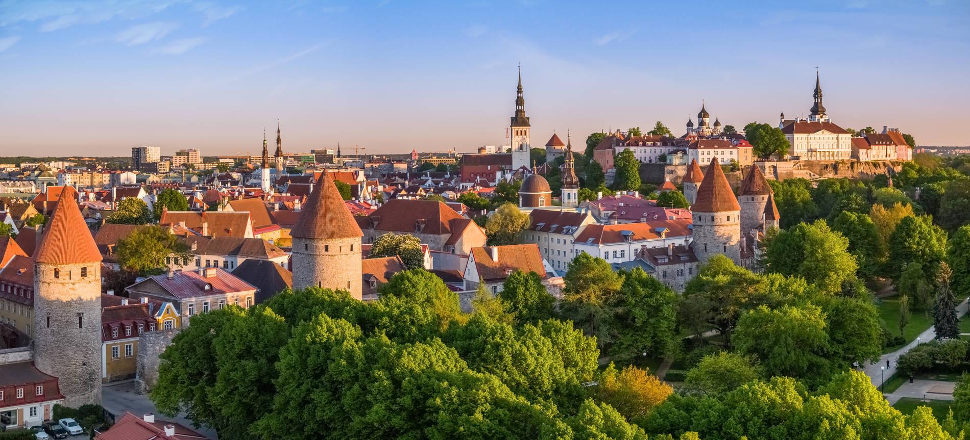 View of the Old Town of Tallinn, Estonia