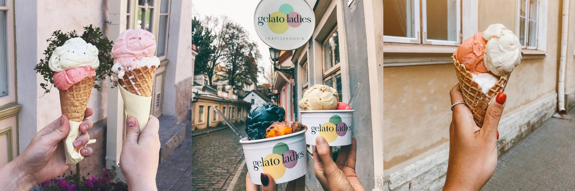 Gelato Ladies kahvilan jäätelö, Tallinna Kuva: