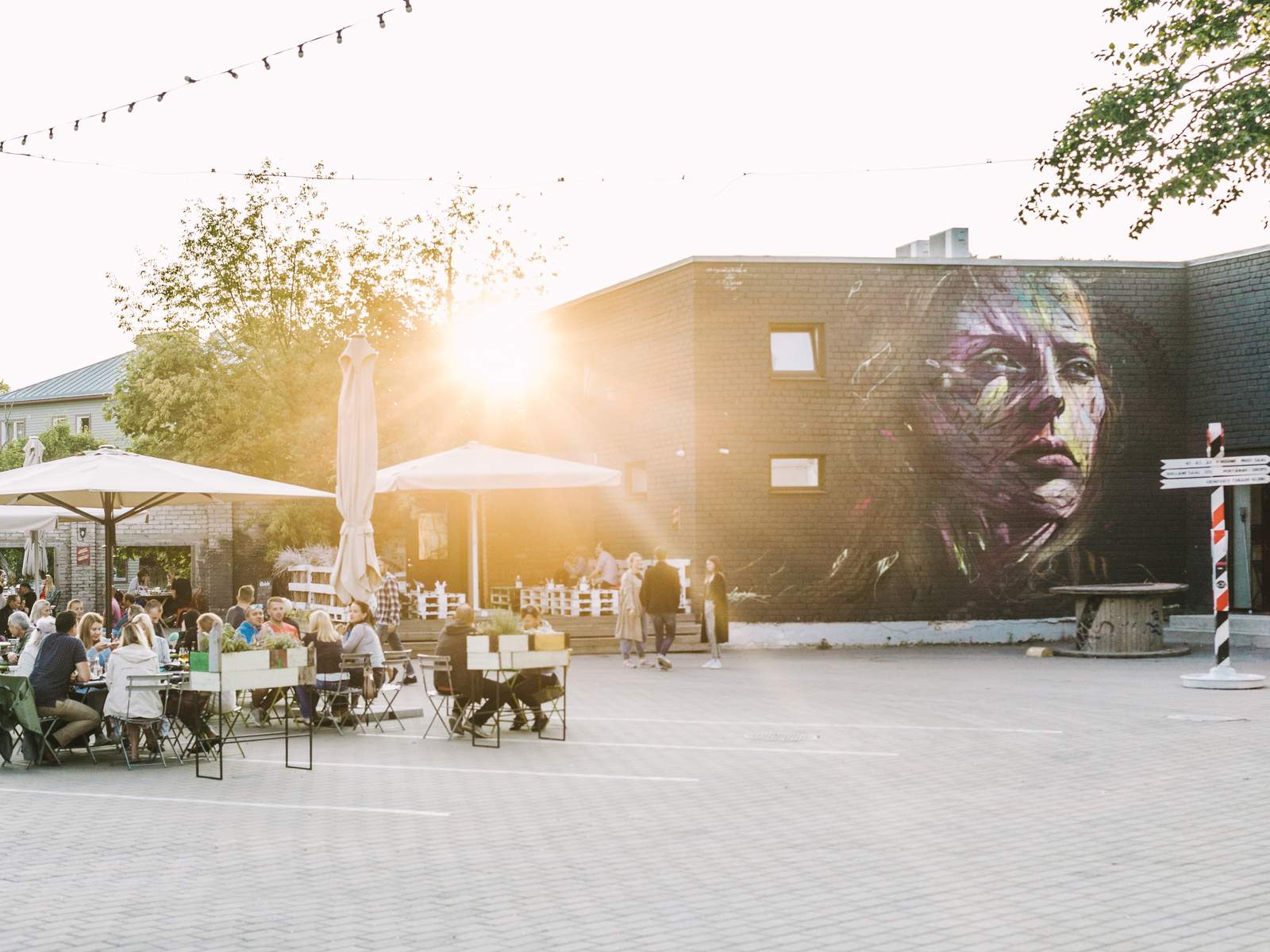 A mural by Hopare in Telliskivi Creative City in Tallinn, Estonia Photo: Rasmus Jurkatam / EAS