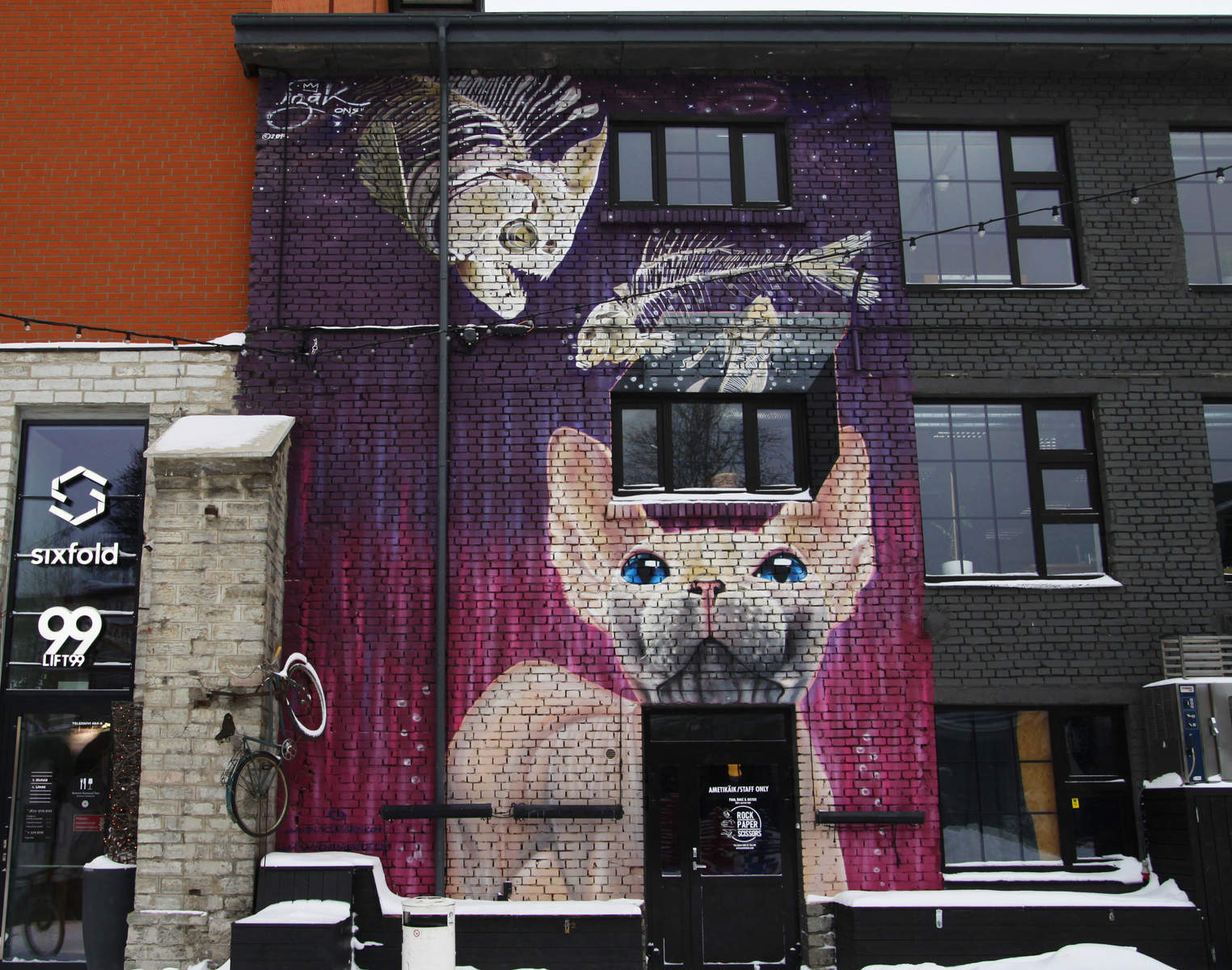 Street art by Izak in Telliskivi Creative Centre in Tallinn, Estonia.  Photo: Mairit Krabbi