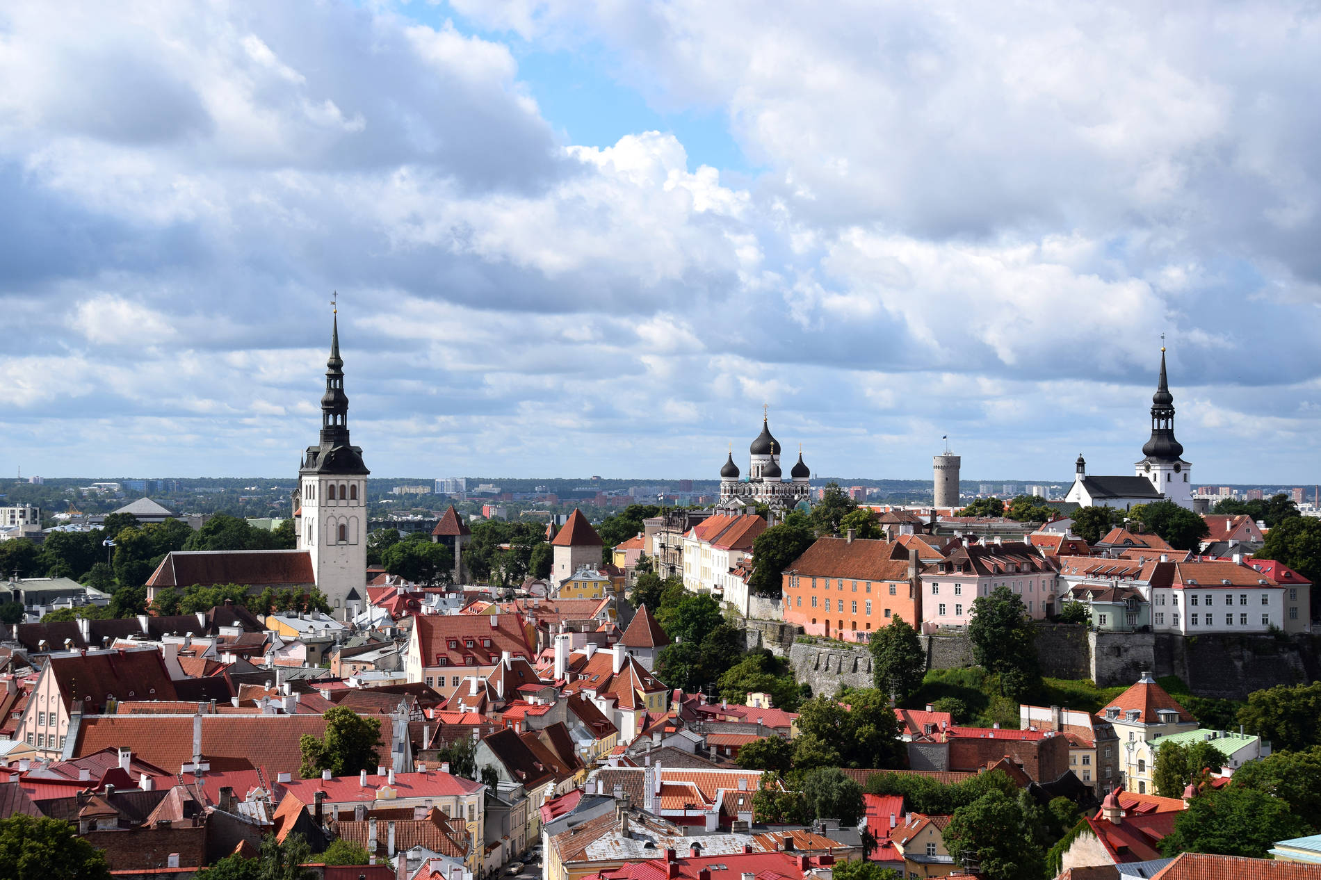 View of the Old Town from St Olaf's Church Photo by: Kadi-Liis Koppel