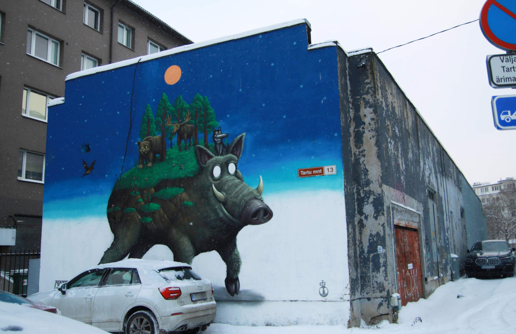 A fictional animal - street art by Goal in Tallinn, Estonia Photo: Mairit Krabbi