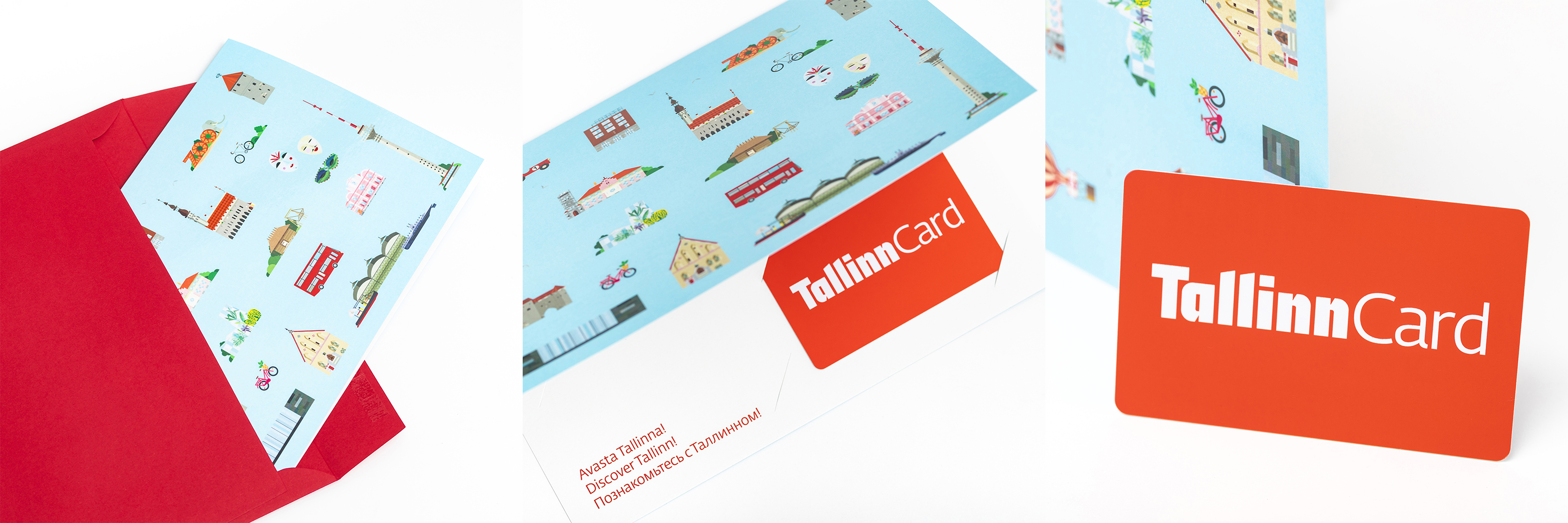 Red plastic Tallinn Card in a gift-envelope. Photo: Tallinn Card