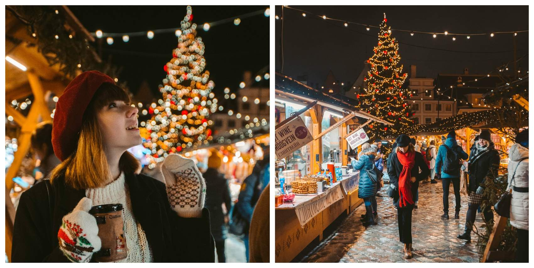 Girl at the Chrismas Market on th Town Hall Square in Tallinn, Estonia Photo: Simon Snopek