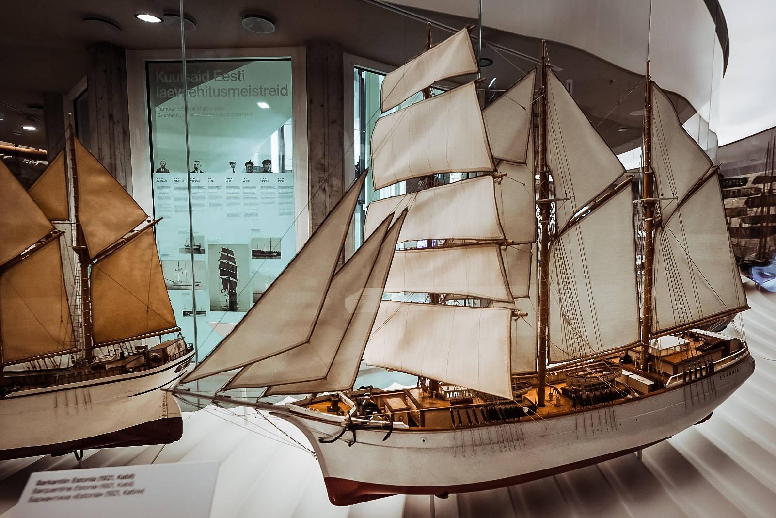 Perjeveneiden pienoismallit Paks Margareeta museo-vierailukeskuksessa, Viron Merimuseossa Vanhassa kaupungissa Tallinnassa Virossa Kuva: Kadi-Liis Koppel