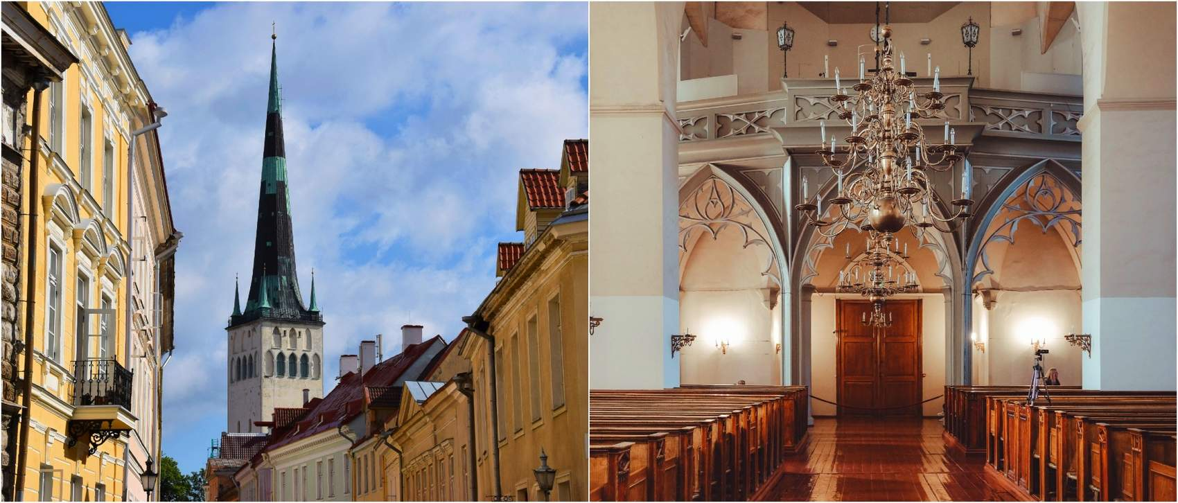 Collage of the St. Olaf Church in Tallinn, Estonia Photo: Kadi-Liis Koppel
