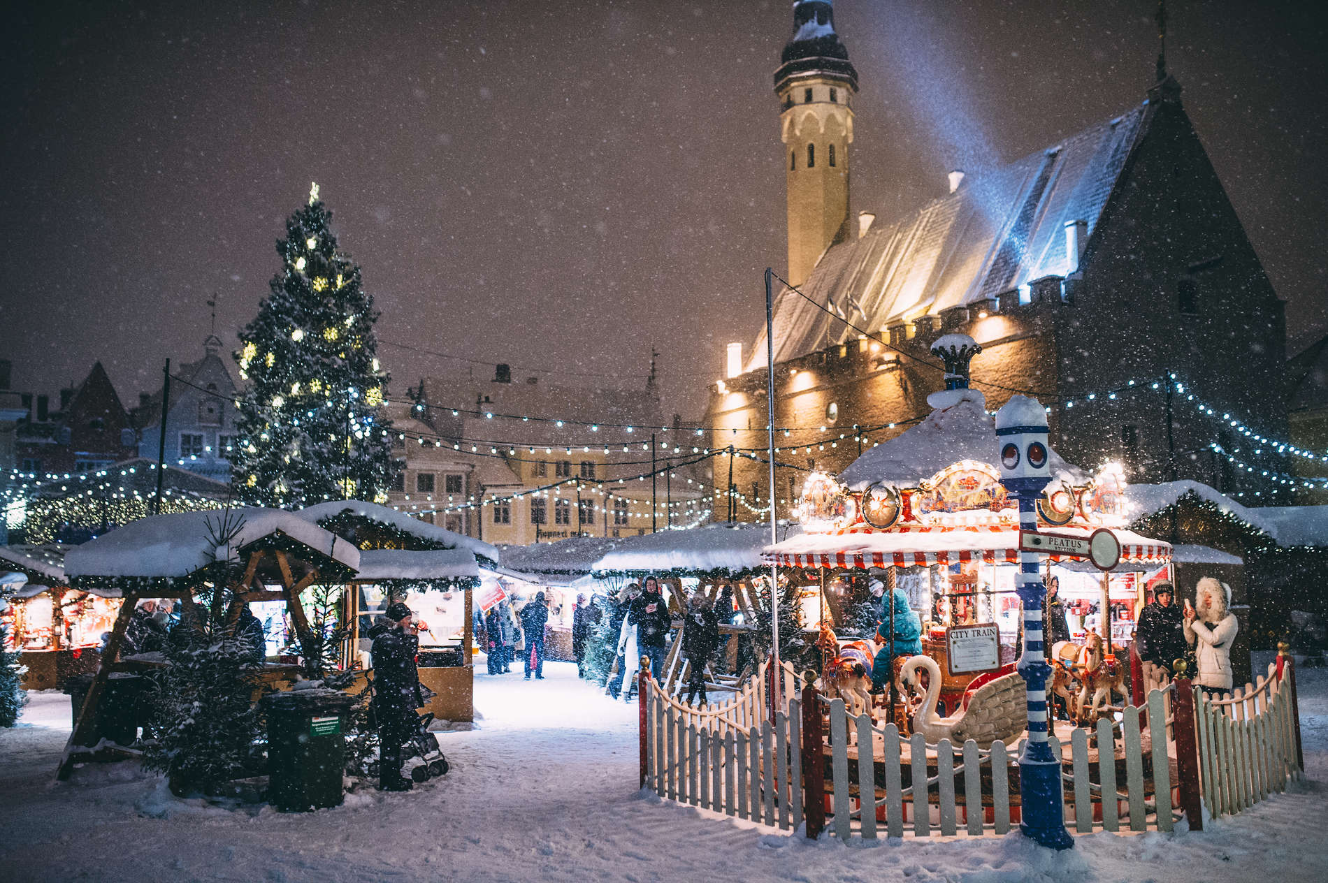 Carousel at the Christmas Market of Tallinn, Estonia. Photo by: Jake Farra